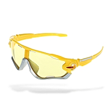 9270 Cycling Glasses Explosion-proof Eyeglasses With PC Lens - Yellow