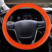 Crocodile Texture Universal Rubber Car Steering Wheel Cover Sets Four Seasons General (Orange)
