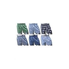 Boxer Shorts - 6 Pieces-Pure Cotton. Checked Multicolored