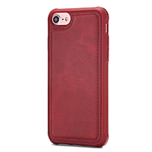 Phone Cases for Iphone 6 6S 7 8 Universal Casing Cover Magnetic Back Shell-Red