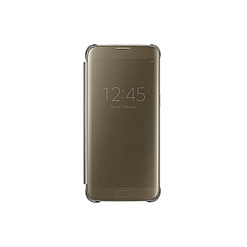 Samsung Samsung Galaxy S7 Edge Flip Sensor Gold ( Flip Cover Reflecting  Phone Activities) (Stain And Scratch Resistant)