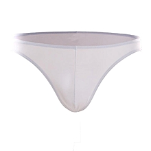 Ice Silk Super Thin Breathable Low Waist Seamless Brief For Men White