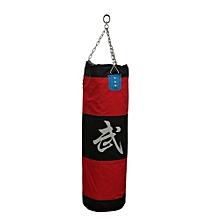 Thai Karate Boxing Punching Punch Kick Padded Bag + Chain Accessory Set