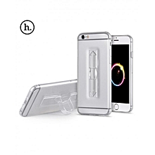 4.7 Inch TPU Phone Cover With Ring Bucket For IPhone 6 / 6s (TRANSPARENT)