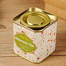 1Pcs/Lot Wholesale Butterfly Knot And Line Drawing Style Kitchen Tea Sugar Coffee Storage Tin Box Portable