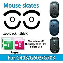 2sets Teflon 0.6mm Mouse Feet/Skates for Logitech G403 G603 G703 Mouse