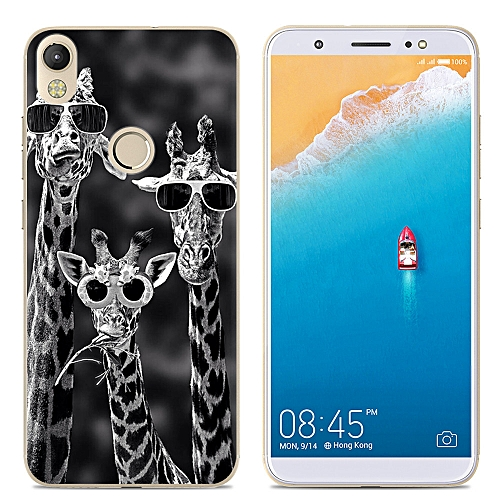 pick up 693d6 40325 New Phone Cover Shockproof For TECNO CM Phone Case Soft TPU Back Cover  Silicone Clear Cartoon