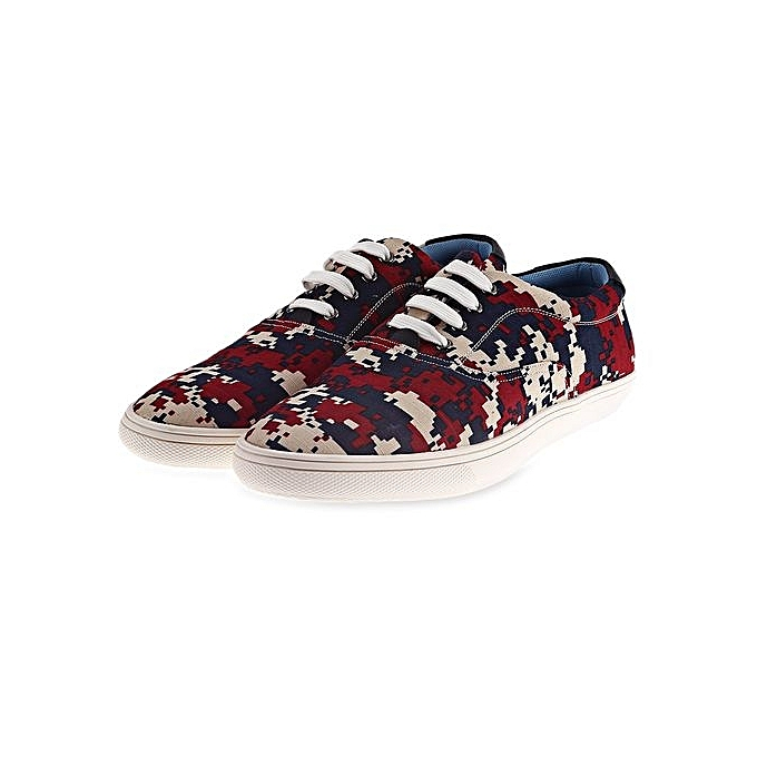 dd0cf878b5368 Generic Camo Pixel Print Lace-Up Casual Shoes ODM Designer-RED ...