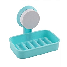 Soap Box Drain Rack With Sucker - Blue