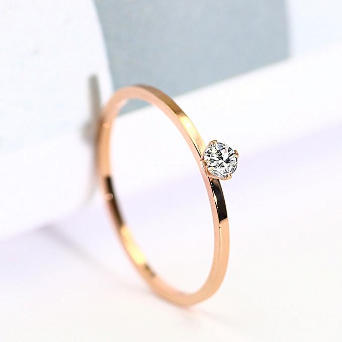 a0ba305ab7 Generic The decoration vogue rose gold titanium steel diamond ring t ...