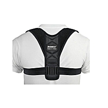 Adjustable Back Correction with Breathable Posture Correction Belt-Black