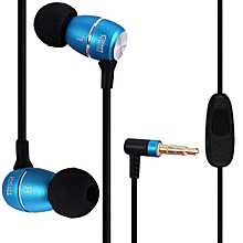 Hi-100 Super Bass Stereo Headsets 3.5mm Plug Earphones With Mic(BLUE)