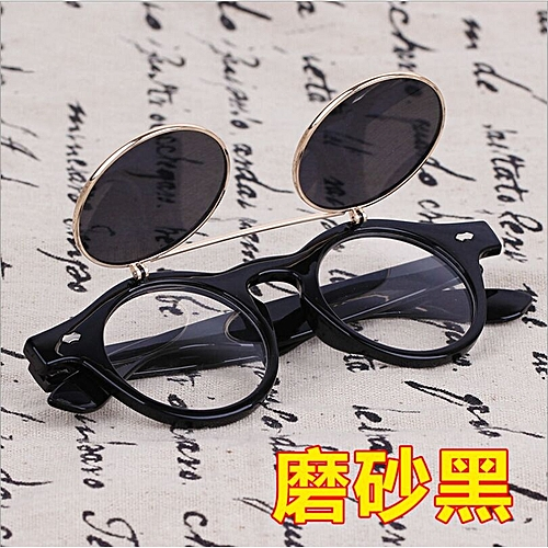 f0f3de55c0 Fashion Steampunk Goth Goggles Glasses Retro Flip Up Round Sunglasses  Vintage B