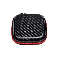 KZ Mini PU Leather Earphone Storage Organizer Holder Earbud Case black