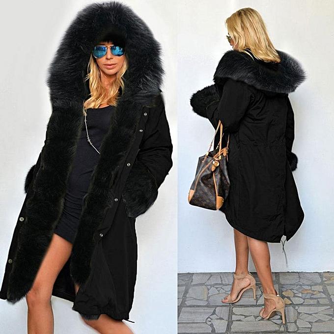 2fc18785be3a Jolintsai Winter Jacket Women Mid Long Hooded Parkas Mujer Thick