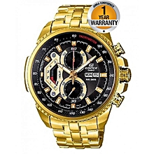 Gold Tachymeter Stainless Steel Strap Watch