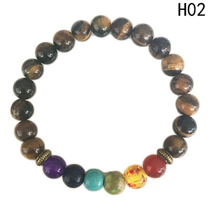 Fashion 7 Chakra Healing Balance Beads Bracelet Yoga Life Energy Bracelet Lovers Casual Jewelry