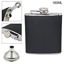 6oz Portable Stainless Steel Hip Flask With Funnel And 180ML Capacity For Festival Gift