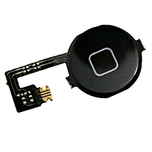 Home Button with Flex Cable For iPhone 4 [Colour: Black]