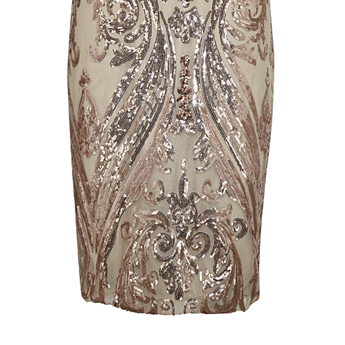 fccca42daac ... Sexy Women Gold Sequin Summer Dress V Neck Backless Luxury Party Club  Wear Midi Bodycon Sundress ...