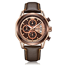 2071 Watch Men Watch Top Luxury Brand Watch Leather Band Quartz Movement Wristwatch Sport Watch Male Watch Fashion and Casual Watch