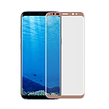 For Galaxy S8 Angibabe 0.1mm PET Curved Electroplate Front Soft Full Screen Protector Film(Rose Gold)