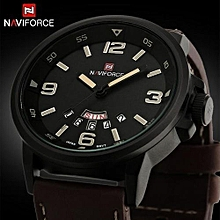 new brand fashion men sports watches mens quartz hour date clock man leather strap military army waterproof wrist watch