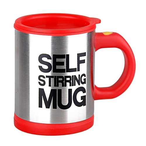 d67acaf87b2 Stainless Lazy Self Stirring Mug Auto Mixing Tea Coffee Cup Office Home  Gifts-Red