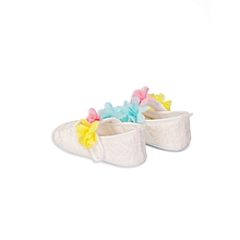 Girl Beige Shoes&Headband Set