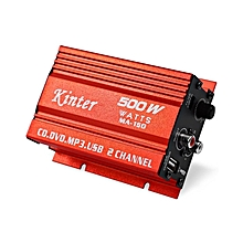 MA-150 - 500W 5V Hi-Fi Amplifier Booster MP3 Speaker For Car Motorcycle - Red