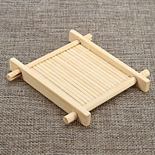Bamboo Tea Cup Mat Square Handmade Cup Mat For Kungfu Tea Set Classic Coasters Pastoral Tea Tools Home Decoration