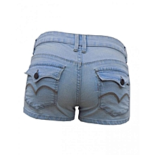 Shorty Shorts -Light Wash