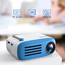 """YG200 320*240 Projector 94"""" TF card AV USB HDMI US - Blue"""