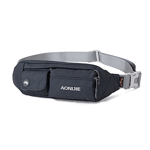 dea705208145 AONIJIE E7092 Jogging Waist Bag Fanny Pack Travel Pocket Key Wallet Pouch  Cell Phone Holder Chest Cross-body Bag Running Belt(Black)