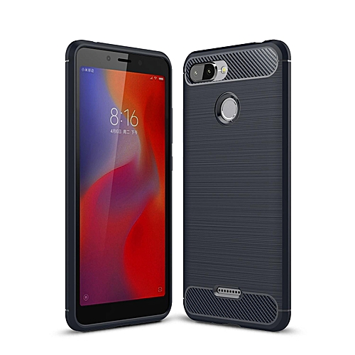 Redmi 6 Case, Ultra-thin Brushed Carbon Fiber Wire Drawing Shockproof Anti-Fingerprints Slim Armor Soft TPU Phone Back Cover Case For Xiaomi Redmi 6