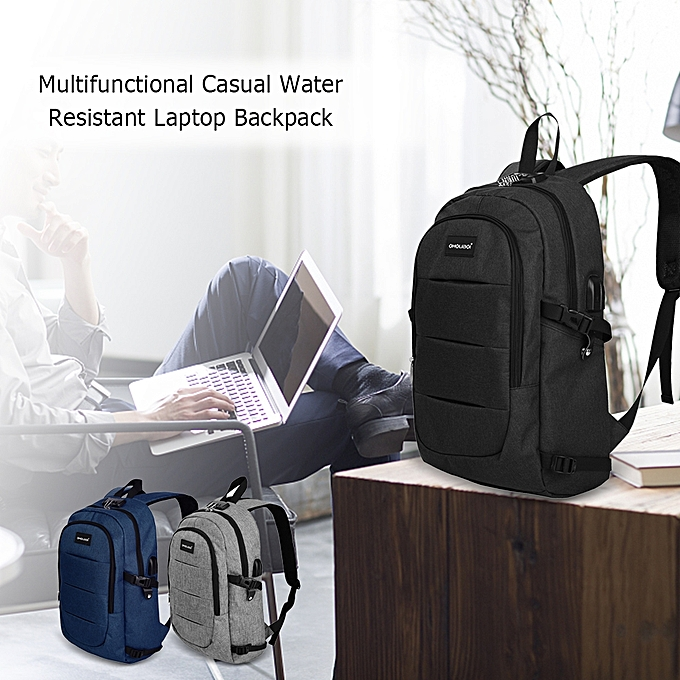 3fcea150c4e ... Multifunctional Casual Breathable Water Resistant Laptop Backpack Anti  Theft Should Bag with USB Charging Port Headphone ...