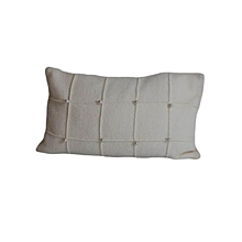 Patterned Decorative Pillow - Small- white