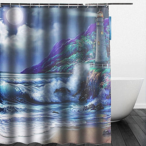 Generic Hot New Custom Lighthouse Bathroom Fabric Waterproof Shower Curtain 60x72 Inch