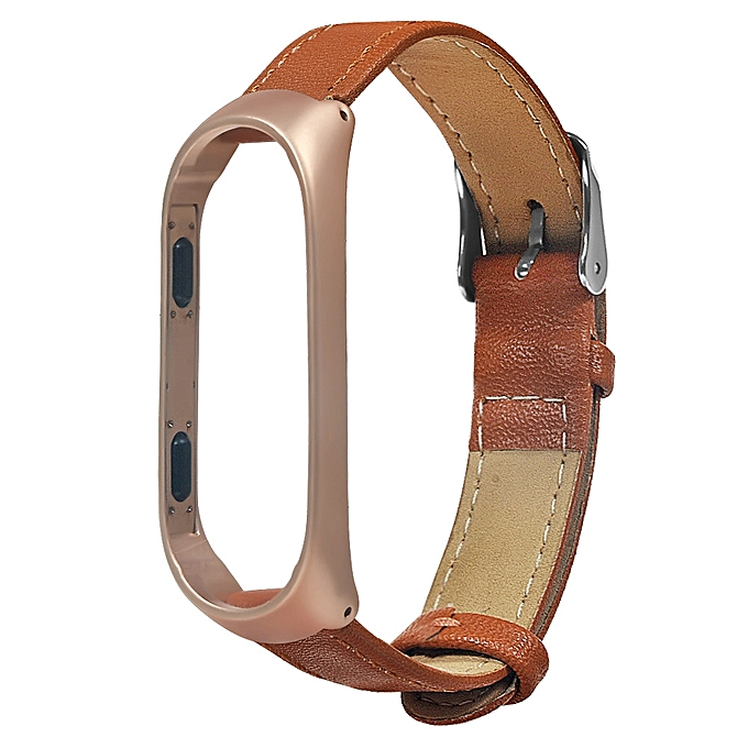 Business Lightweight Leather Smart Wrist Watch Band Strap For Xiaomi Miband 3