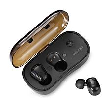 Bluetooth Earphones True Wireless Stereo Earbuds Portable - Black