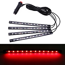 4 in 1 Universal Car LED Atmosphere Lights Colorful Lighting Decorative Lamp, with 48LEDs SMD-5050 Lamps, DC 12V 3.7W(Red Light)