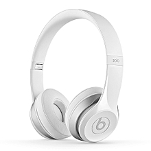 Solo2 Wired Over-Ear Headphone On-Ear Stereo Music Headset ANC Noise Reduction Earphone White Second-hand No Package No Accessories