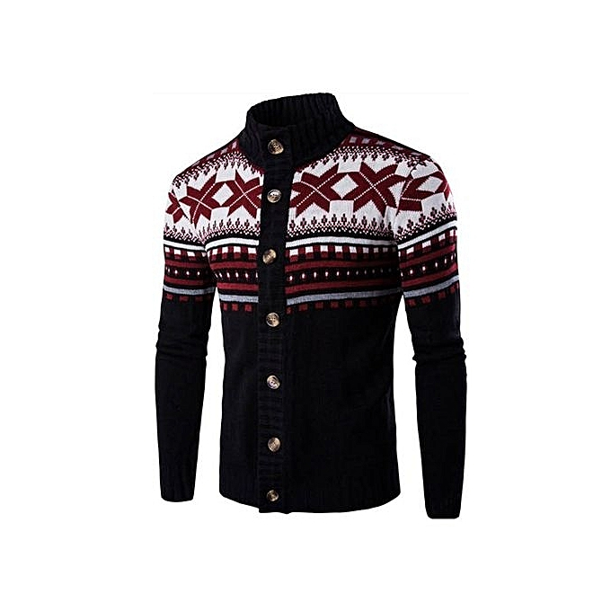 6c3de6132274 Fashion Male Christmas Cardigan Sweater Winter Plus Size Mens ...