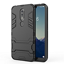 For Nokia 6.1Plus X6 Case, Iron Hard Man Armor Dual Shockproof Bumper Full Body Stand Rubber Back Cover Case With Kickstand For NOKIA X6 2018 / 6.1 Plus