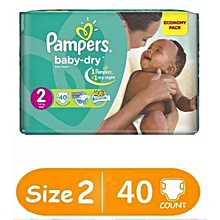 BABY DIAPERS SIZE 2(3-8kgs), 40 pieces/count VALUE PACK