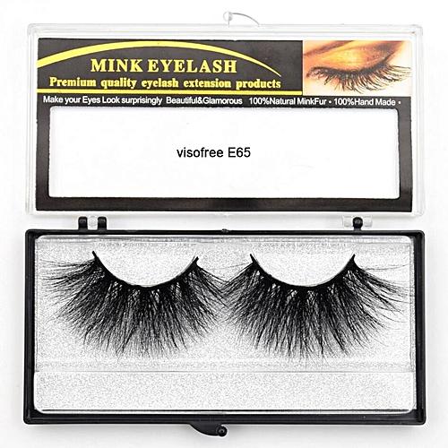 0533ec5324f Generic Eyelashes Mink Eyelashes Criss-cross Strands Cruelty Free High  Volume Mink Lashes Soft Dramatic Eye lashes E80 Makeup(visofree E65)
