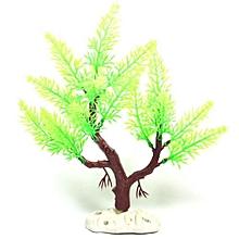 Artificial Tree Plant Grass Figurines Miniatures Aquarium Fish Tank Landscape, Size: 22.0 X 24.0cm(Green)