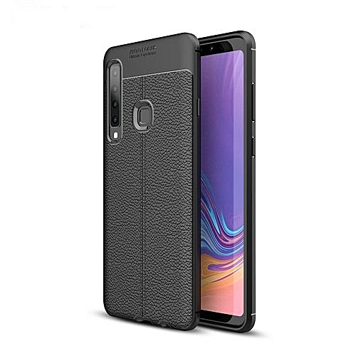 separation shoes 6ef9d b6694 Samsung Galaxy A8 Star Silicone Case TPU Carbon Fiber Pattern Anti-knock  Phone Back Cover - Black