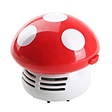 Mini Mushroom Desk Cleaner Vacuum Cleaner Cute Corner Table Dust Collector red