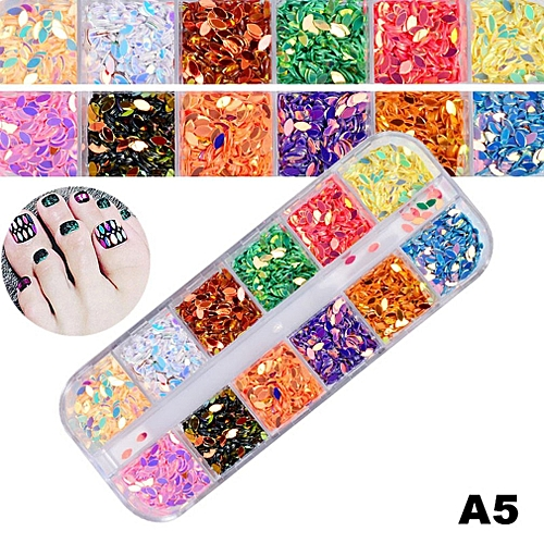 Allwin 1 Box of Ultra Thin Nail Art Decoration Snow Flake 3D White ...